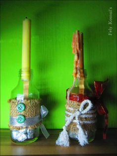 DIY candle bottle : vintage ~by Fely Komul