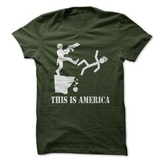 This is America T Shirts, Hoodies, Sweatshirts. CHECK PRICE ==► https://www.sunfrog.com/Offensive/This-is-America.html?41382