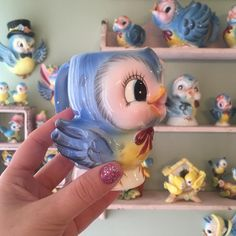 Blue bird mug Lefton Blue bird