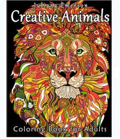 Adults Coloring Book Animals Design Creative Stress Relief Fun Patterns Relax