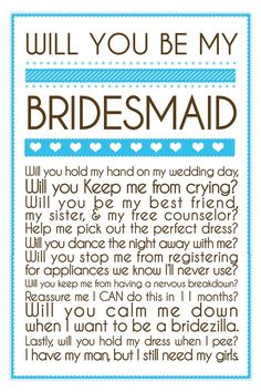 This is adorable. I've come to realize that the people you thought would stick by you and support you don't. So picking bridesmaids before wedding planning won't work. Wedding Events, Our Wedding, Dream Wedding, Weddings, Wedding Stuff, Wedding Pins, Wedding Photos, Wedding Bells, Luxury Wedding