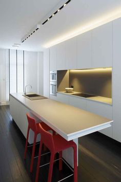 Moderne Küche Mit Bar: 6 Ideen Für Eine Bartheke Aus Holz, Stein Und Beton  | Kücheninspiration | Pinterest | Boden, Kitchen Design And Kitchens