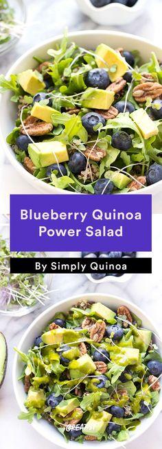 2. Blueberry Quinoa Power Salad #Healthy #Quinoa #Salads http://greatist.com/eat/quinoa-salads-we-cant-wait-to-dig-into