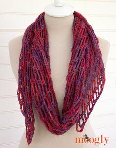 Artfully Simple Angled Crochet Scarf