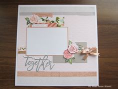 SCRAPBOOKING LAYOUT: Hello Lovely paper pack and Hello Lovely- scrapbooking day to day stamp from CTMH.