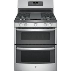 gas range with griddle