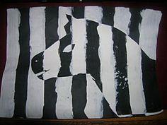 Le Zèbre à la manière de Vasarely