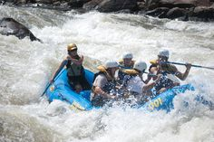 Guests catching some whitewater with guide Brenda through Wildwater at the Ocoee River.