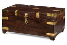 "15"" Wood Box w/ Brass Fittings"