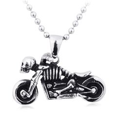 Vintage skeleton motorcycle