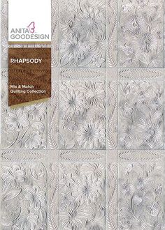 For the Rhapsody collection we wanted to create something completely different. We wanted to create a classic quilting collection using modern florals with a touch of appliqué to really make this design stand out.  We embroidered the designs on white fabric with white satin stitches to finish the piece.  This collection also includes sashing blocks to create your quilt. The designs look great in any color. <br /> <br /> The best part about this collection is that you can combine it with…