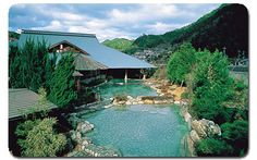 Wataze Onsen is a beautiful hot spring featuring the largest Rotenburo open-air hot spring bath in all of western Japan.  The type of Onsen is sodium bicarbonate, and effective for rheumatic disease and chronic gastroenteric disorder.