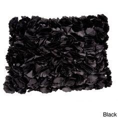 Flower Accent Throw Pillow | Overstock.com Shopping - Great Deals on Throw Pillows
