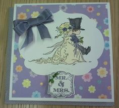 Wedding card using some Stampin Up items. www.craftingshaz.stampinup.net