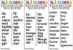Høyfrekvente ord - Minibøker End Of Year Activities, Special Needs, Grammar, Teaching Resources, Forslag, Teacher, Education, School, Tips