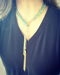 Corrina Tassel Necklace - Cool way to wear this!
