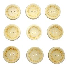 Pack of 100 Natural Heart Print Wooden Sewing Buttons Handmade DIY Craft 25mm with 2 Holes *** See this great item.