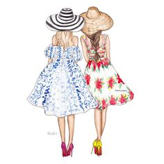 Summer Glamour FashionIllustrations ksenia onegina Be Inspirational Mz Manerz Being well dressed is a beautiful form of confidence happineSummer G… – Best Friends Forever Bff Pics, Bff Pictures, Best Friend Pictures, Best Friend Drawings, Girly Drawings, Best Friend Sketches, Friends Sketch, Mode Kawaii, Fashion Art