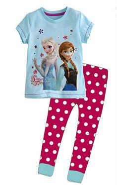 Frozen Elsa Anna clothing set summer 2 pieces t shirt + pants for girl 2014 brand Girls Children Clothing