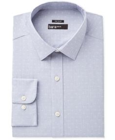 Bar Iii Men's Wear Me Out Slim-Fit Stretch Easy Care Dress Shirt, Only at Macy's - Gray 17-17 1/2 34-35