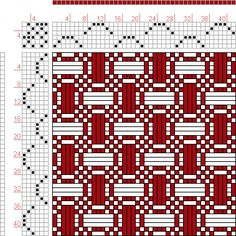 Hand Weaving Draft: Forward, Figure 66, Donat, Franz Large Book of Textile Patterns, 6S, 6T - Handweaving.net Hand Weaving and Draft Archive