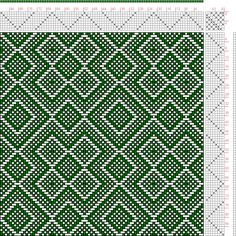 Hand Weaving Draft: Threading Draft from Divisional Profile, Tieup: , Draft #45548, Threading: Weber Kunst und Bild Buch, Marx Ziegler, (167...