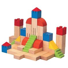 Are there knights, kings, fair maidens, or maybe a dragon or two in your child's future? With the Creative Blocks from Plan Toys, it's a good possibility! This fantasy inspiring block set has 46 piece