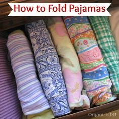 How to {Fold Pajamas} to {Save Space!}