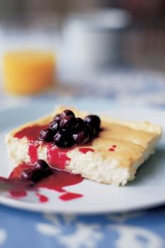 Barefoot Contessa - Recipes - Baked Blintzes with Fresh Blueberry Sauce