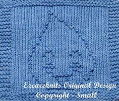 Knitting Cloth Pattern  HAPPY TEAR  PDF by ezcareknits on Etsy