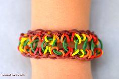 NEW** Rainbow Loom ROPE BRIDGE bracelet. See it on the loomlove site. Also see tutorial video on my Tutorial board.