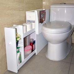 Organized Life White Bathroom Storage Organizer - Walmart.com - Walmart.com Slim Bathroom Storage Cabinet, Storage Cabinet With Drawers, Bathroom Towel Storage, Bathroom Standing Cabinet, Bathroom Floor Cabinets, Bathroom Flooring, Bathroom Organisation, Diy Organization, Organizing Ideas