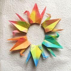 1000 6 Gradient Origami Cranes Senbazuru by OrigamiLandDeco, $130.00