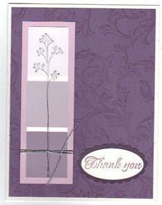 Purple Paint Lovely Thank You by KTstamper - Cards and Paper Crafts at Splitcoaststampers