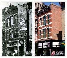 Springfield, IL. The Royal Theater then and now (The Blue Door). Courtesy of Springfield Rewind.