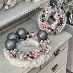 Adventi koszorú #11 | 30 cm Christmas Advent Wreath, Christmas Crafts, Christmas Decorations, Xmas, Ornament Wreath, Ornaments, Centerpieces, Wreaths, Shabby