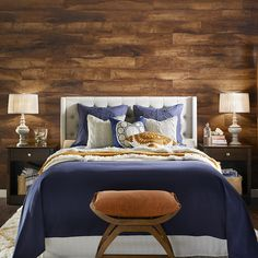 Make a statement with the latest trend - laminate on the wall! Adding the character of a pallet wall, shiplap-look wall or other wall treatment is more affordable than you think. Click through to learn more about laminate and the wall and find the perfect Pergo Laminate Floor to start your next project.