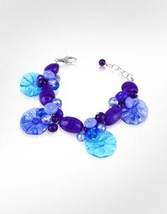 Antica Murrina Encanto - Murano Glass Flower Bead Bracelet