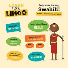 We're excited to introduce our new 'Learn a Lingo' posts! Always wanted to learn Swahili? Here are five key phrases you need to know! Please note, in lieu of the discussion this. English Language Learners, Language Lessons, Language Study, Second Language, English Grammar, Learning Resources, Kids Learning, Teaching Ideas, Spoken Arabic