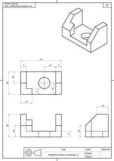 Isometric Sketch, Autocad Isometric Drawing, Isometric Drawing Exercises, Drawing Desk, Object Drawing, Cad Drawing, Drawing Practice, Drawing Lessons, Drawing Techniques