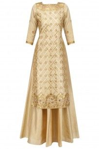 Buttercup Jaal Embroidered Kurta and Skirt Set