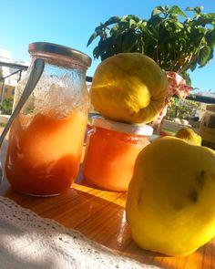 Μαρμελάδα κυδώνι με κόκκινο κρασί Apple Butter, Marmalade, Jelly, Favorite Recipes, Canning, Fruit, Cooking Ideas, Google, Home Canning