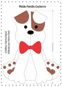 ARTE COM QUIANE - Paps e Moldes de Artesanato : Molde família cachorro de feltro Dog Crafts, Felt Crafts, Felt Patterns, Sewing Patterns, Dog Template, Ornament Template, Sewing Stuffed Animals, Felt Dogs, Puppy Party
