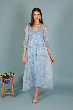 a Shirt Dress, Shirts, Outfits, Dresses, Fashion, Long Gowns, Full Sleeves, Chiffon, Ruffles