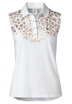 Order your golf apparel online from lorisgolfshoppe.com. Check this out --> GOLD EDITION (White) Daily Sports Ladies Larissa Sleeveless Golf Polo Shirt