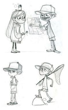 Character Designs de Gravity Falls, do Disney Channel | THECAB - The Concept Art Blog via PinCG.com