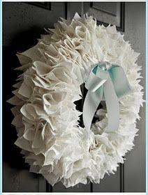 Pretty ribbon wreath!