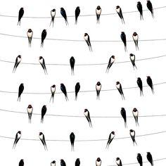 Ladusvalor fabric from Arvidssons Textil by Mialotta Arvidsson Mars Scandinavian Fabric, Scandinavian Interior Design, Horse Fabric, Telephone Line, Dark Blue Green, Textiles, Marimekko, Countryside, Mars