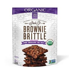 Sheila G's Organic Brownie Brittle has the same satisfying chocolate flavor, with all the wholesome goodness you've come to trust from USDA-certified organic products. Brownie Brittle, Chocolate Flavors, Sea Salt, Chocolates, Cocoa, Trust, Organic, Cookies, Breakfast