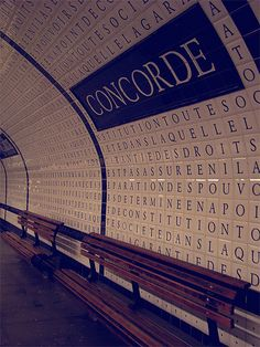Concorde Subway Station, Declaration of the Rights of Man and of the Citizen, Paris VIII